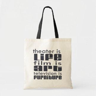Theatre vs Film vs TV Canvas Bag