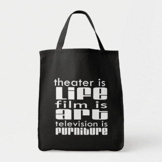 Theatre vs Film vs TV Canvas Bags