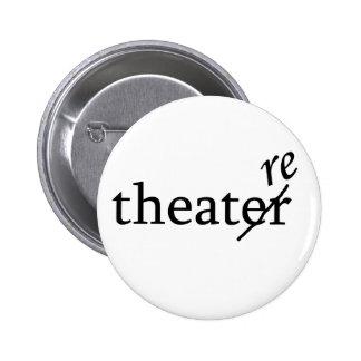 Theatre vs. Theater 2 Inch Round Button