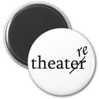 Theatre vs. Theater 2 Inch Round Magnet