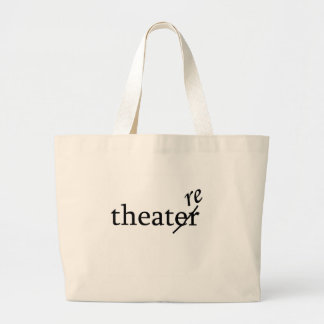 Theatre vs. Theater Jumbo Tote Bag
