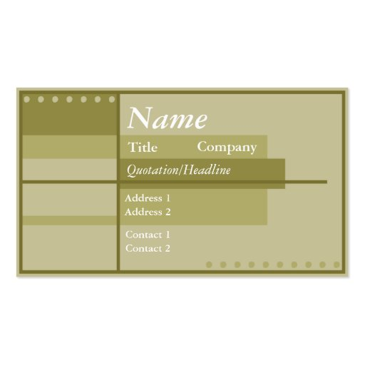 Theatrical Business Card