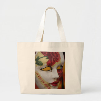 Theatrical Mask Canvas Bag