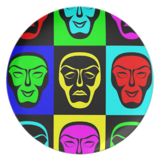 Theatrical Masks Party Plates
