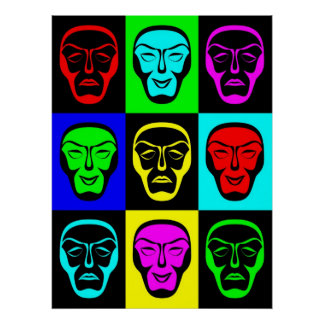 Theatrical Masks Print