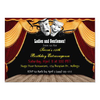 Theatrical Party Invitations