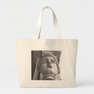 Theatrical Roman statue Canvas Bags