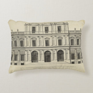 Theatrical Style Façade by Colen Campbell Decorative Pillow