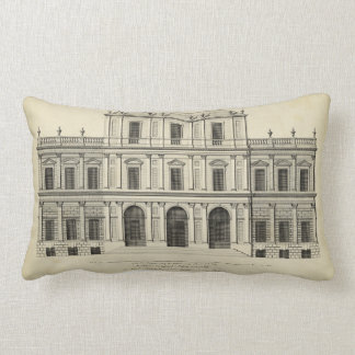 Theatrical Style Façade by Colen Campbell Lumbar Pillow
