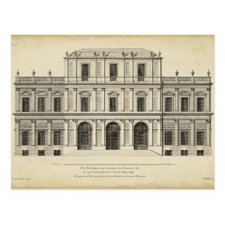 Theatrical Style Façade by Colen Campbell Postcard