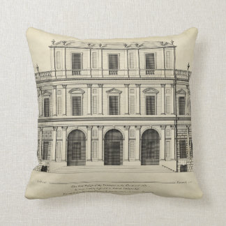Theatrical Style Façade by Colen Campbell Throw Pillow