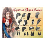 Theatrical Wigs & Beards Postcards