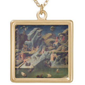 Thebaid, c.1410 (tempera on panel) (see also 16294 gold plated necklace