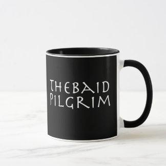 'Thebaid Pilgrim' Mug - black ringer w Golgotha