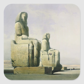 Thebes, December 4th 1838, detail of the colossi o Sticker