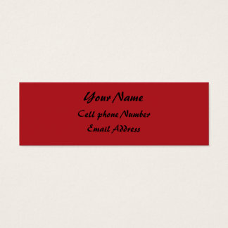 TheColorWheel Indian Red Skinny Profile Card, Y... Mini Business Card
