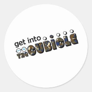 theCUBICLE Season 1 - Camoflauge Classic Round Sticker