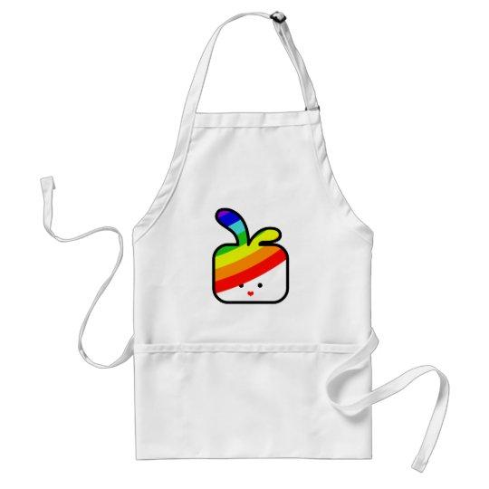 thecutescream square square bunny w rainbow pride adult apron