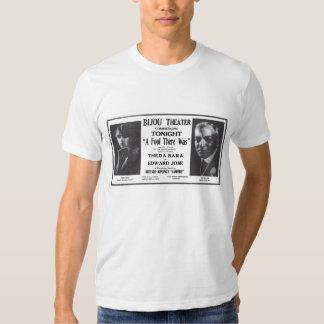 Theda Bara 1915 vintage movie ad T-shirt