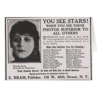 Theda Bara 1916 Greeting Cards