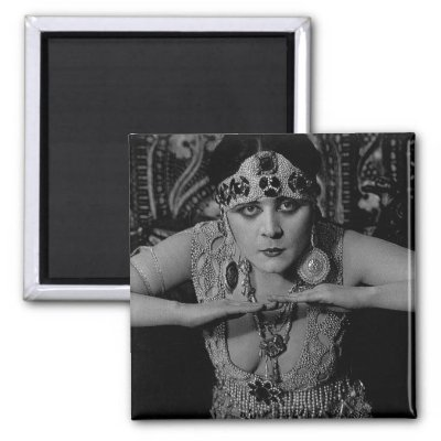 Vintage black and white photograph of Theda Bara in a beaded dress from 1917 ...