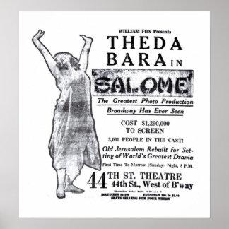 Theda Bara 1918 vintage movie ad poster