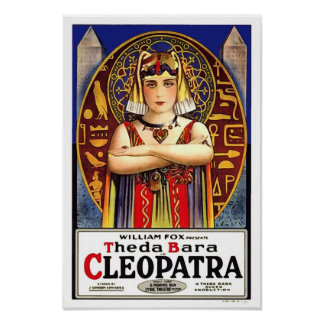 Theda Bara as Cleopatra Vintage Movie Poster