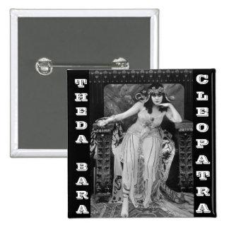 Theda Bara como Cleopatra Pin Cuadrado