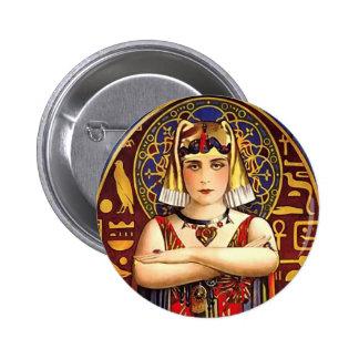 Theda Bara como película del vintage de Cleopatra Pin Redondo De 2 Pulgadas