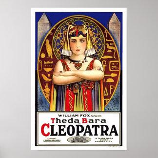 Theda Bara como película del vintage de Cleopatra Póster