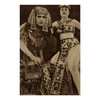 Theda Bara in Cleopatra Silent Movie Poster