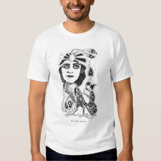 Theda Bara Silent Movie Actress Caricature Shirt