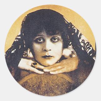 Theda Bara Classic Round Sticker