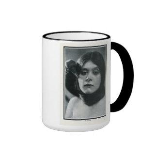 Theda Bara w/raven 1915 vintage portrait mug