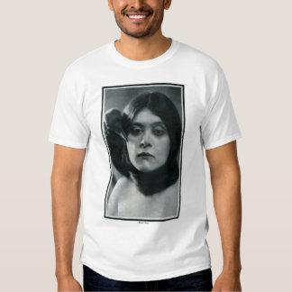 Theda Bara w/raven 1915 vintage portrait T-shirt