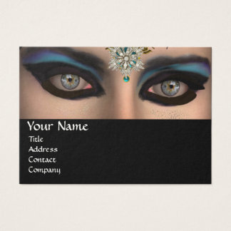THEDA / DIAMOND STARS AND BLUE GEMSTONES BUSINESS CARD