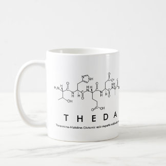 Theda peptide name mug