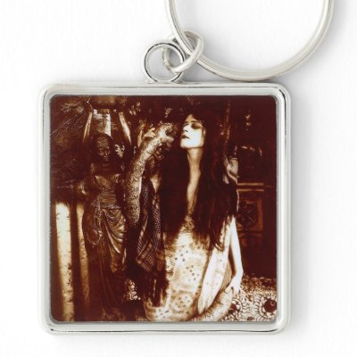Theda with a Snake Key Chain