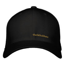 thedeltablues embroidered baseball cap
