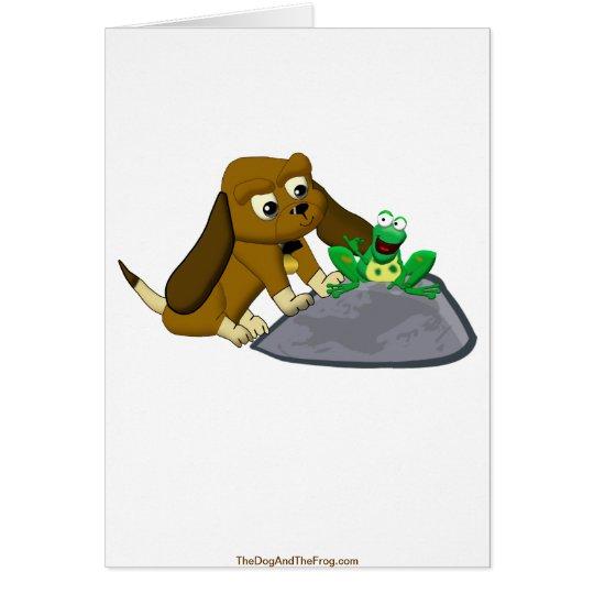 TheDogAndTheFrog.com Cartoon Beagle Frog Story Card
