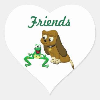 TheDogAndTheFrog.com Cartoon Story Book Gifts Heart Sticker