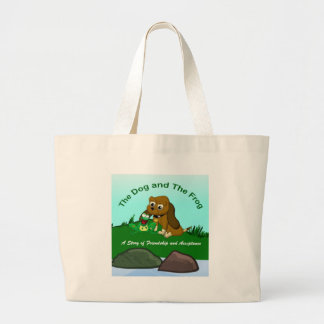 TheDogAndTheFrog.com Cartoon Story Gifts Large Tote Bag