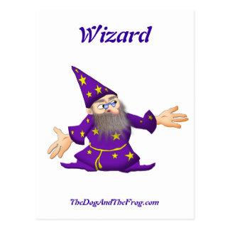 TheDogAndTheFrog.com Cartoon Story Gifts Wizard Postcard