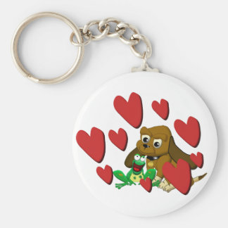 TheDogAndTheFrog.com Gifts Dog Frog Best Friends Keychain