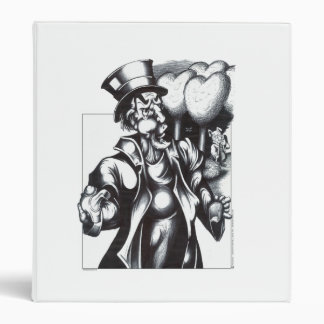 Thee Mad Hatter 3 Ring Binder
