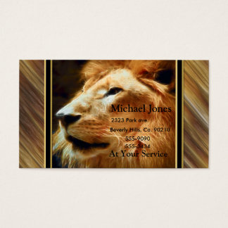 Thee Majestic Lion Business Card