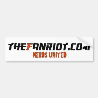 TheFanRiot.com Bumper sticker (white) Car Bumper Sticker
