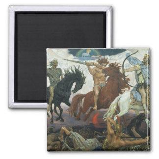 TheFour Horsemen of Apocalypse by Viktor Vasnetsov Magnet