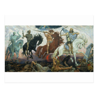 TheFour Horsemen of Apocalypse by Viktor Vasnetsov Postcard