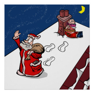 """Theft"" - British Gamer Christmas Poster"